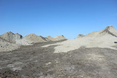 Qobustan mud volcanoes Royalty Free Stock Image
