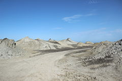 Qobustan mud volcanoes Royalty Free Stock Images