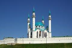 Qol谢里夫清真寺在喀山克里姆林宫,鞑靼斯坦共和国,俄罗斯 免版税库存照片