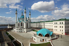 Qol谢里夫清真寺在喀山克里姆林宫,鞑靼斯坦共和国,俄罗斯 图库摄影