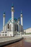 Qol谢里夫清真寺在喀山克里姆林宫,鞑靼斯坦共和国,俄罗斯 免版税图库摄影