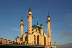 Qol谢里夫清真寺在喀山克里姆林宫,鞑靼斯坦共和国,俄罗斯 免版税库存图片
