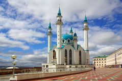 Qol谢里夫清真寺在喀山克里姆林宫 免版税库存照片