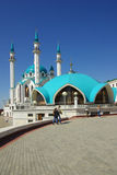 Qol谢里夫清真寺在喀山克里姆林宫 库存照片