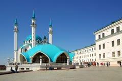 Qol谢里夫清真寺在喀山克里姆林宫 免版税库存图片