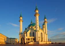 Qol谢里夫清真寺在喀山克里姆林宫 图库摄影