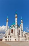 Qol Sharif Mosque i den Kazan Kreml, Ryssland Lång exponering Royaltyfri Fotografi