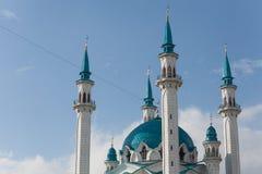 Qolsharif kul sharif清真寺,清真寺,喀山克里姆林宫r尖塔  免版税图库摄影