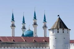 Qolsharif Moschee Minarett/Kremlin/Kazan Stockfotos