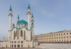 Qolsharif Mosque in Kazan Kremlin Stock Images
