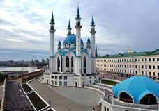 Qolsharif Mosque in Kazan Kremlin. Royalty Free Stock Images