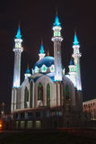Qolsharif mosque at night Royalty Free Stock Photos
