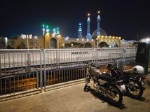 Qom в ноче Стоковая Фотография