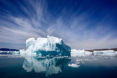 Qooroq Icefjord 免版税图库摄影