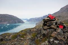 Qooroq Icefjord stock foto's
