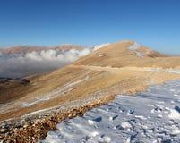 Qornet el- Sawda, Lebanon. Clouds roll into Qornet el-Sawda, at 3088m altitude, the highest point in Lebanon Stock Photo