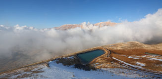 Qornet el- Sawda, Lebanon. Clouds roll into Qornet el-Sawda, at 3088m altitude, the highest point in Lebanon Stock Photo