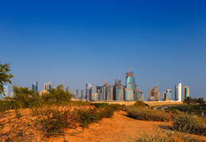 QP District, Situated in the West Bay area of Doha, Qatar Stock Photo