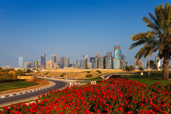 QP District, Situated in the West Bay area of Doha, Qatar Stock Images