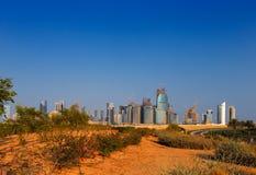 QP okręg, Lokalizujący w zachód zatoki terenie Doha, Katar Zdjęcie Stock