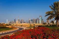 QP okręg, Lokalizujący w zachód zatoki terenie Doha, Katar Obrazy Stock