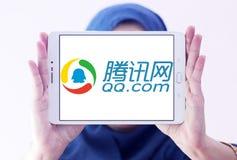 qq логотип com Стоковая Фотография