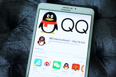 QQ International chat and call mobile app Royalty Free Stock Image