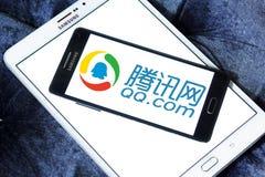 qq logotipo de COM Foto de archivo libre de regalías