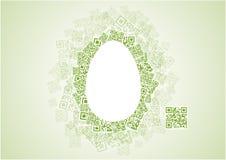 QR αυγό Πάσχας Στοκ Εικόνες