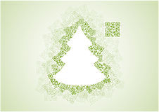 QR χριστουγεννιάτικο δέντρο Στοκ Εικόνες