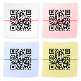 QR bar code sticker Stock Photos