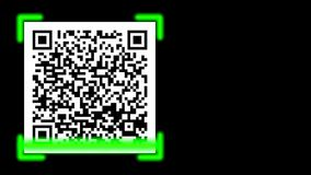 QR Barcode scan access granted stock video