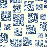 QR Barcode Seamless Pattern Stock Image