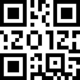 Qr code 2012. Qr code for new year Royalty Free Stock Photos
