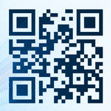 QR-code. QR code with a texture which simulates a digital scanning Royalty Free Stock Photos