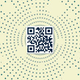 Qr code. Sample qr code with abstract square background Stock Images