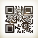 QR code. Computer illustration on white background Royalty Free Stock Image