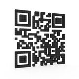 Qr code. 3d illustration of qr code isolated on white background Royalty Free Stock Photography