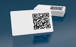 Qr code. Business card with qr code (3d render Stock Photos