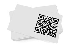 Qr code. Business card with qr code (3d render Royalty Free Stock Image