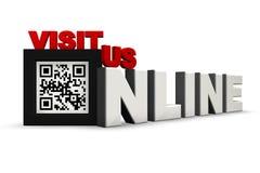 QR Code 3Ds besuchen uns online Lizenzfreie Stockbilder