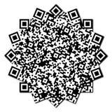 QR code abstract patroon Stock Afbeelding