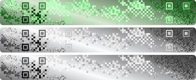 Qr code banners. A set of banners for Web pages Stock Photos
