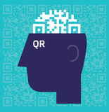 QR code Brain Stock Images