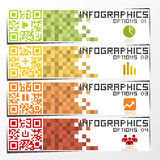 QR Code Business Infographics Banner & Background Royalty Free Stock Photography