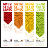 QR Code Business Infographics Banner And Background Stock Photography