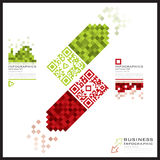QR Code Business Infographics Banner And Background Royalty Free Stock Photo