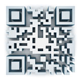 QR Code. This is a computer generated and 3d rendered picture Stock Images