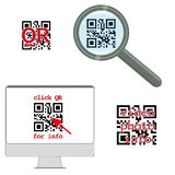 Qr code concept Royalty Free Stock Photo