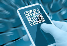 QR Code Concept Royalty Free Stock Photography